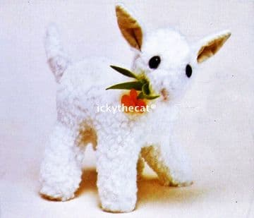 PDF Digital Download Vintage Sewing Pattern Full Size Stuffed Plush Soft Body Toy Lamb