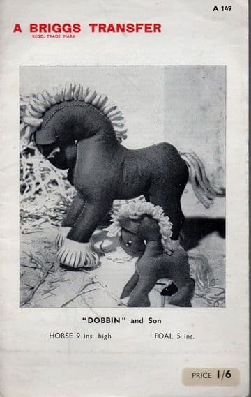PDF Digital Download  Vintage Sewing Pattern Heavy Horse & Foal Soft Toys