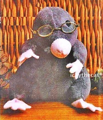 PDF Digital Download Vintage Sewing Pattern Little Mole Stuffed Plush Soft Body Toy Animal