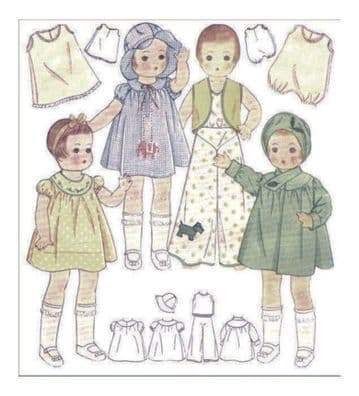 PDF Digital Download Vintage Sewing Pattern McCalls1918 Doll Clothes 14'' Patsy Dolls Toys