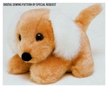 PDF Digital Download Vintage Sewing Pattern Puppy Dog Stuffed Plush Soft Body Toy Animal