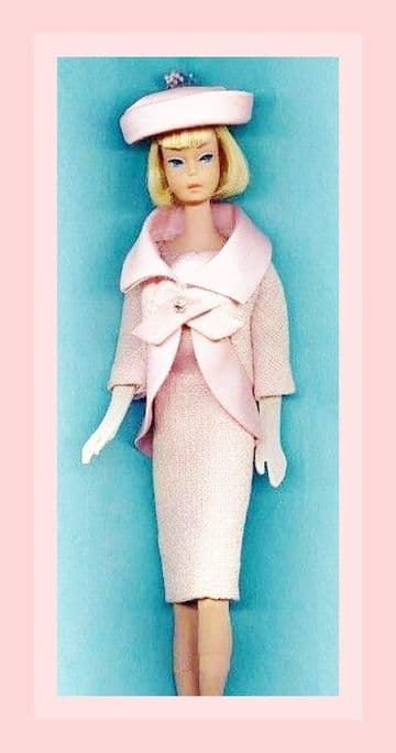 PDF Digital Download Vintage Sewing Pattern  Sixties Suit & Hat for Barbie Dolls