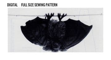 PDF Digital Download Vintage Sewing Pattern Stuffed Plush Soft Body Toy Bat Life size Animal