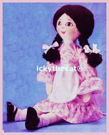 PDF Digital Download  Vintage Sewing Pattern Stuffed Soft Body Cloth Rag Doll & Doll Clothes 20''