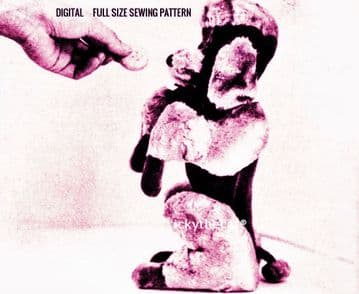 PDF Digital Download Vintage Sewing Pattern  Stuffed Soft Plush Animal  Begging Poodle Dog/Toy