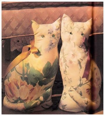 PDF Digital Download Vintage Sewing Pattern to make a Kitsch Chintz Cat Stop Bean Bag Cushion Pillow or Soft toy