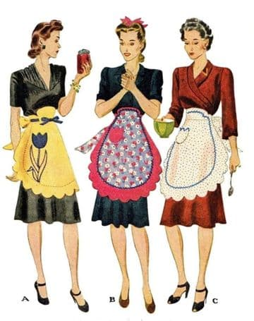 PDF Digital Download Vintage Sewing Pattern Women's Ladies McCalls 1011 Waist Aprons