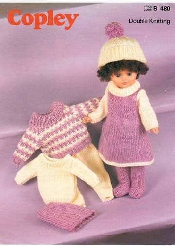 PDF Digital Downloasd Vintage Knitting Pattern Doll Clothes 16,18,20'' Baby Dolls Toy Toys