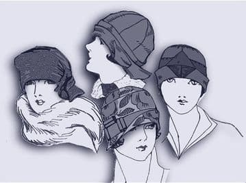 PDF Digital Forties Sewing Pattern  Four Ladies Cloche Hats Average Head Sizes