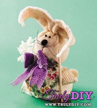 PDF Digital Sewing Pattern Easy Sock Bunny Rabbit Gift Easter