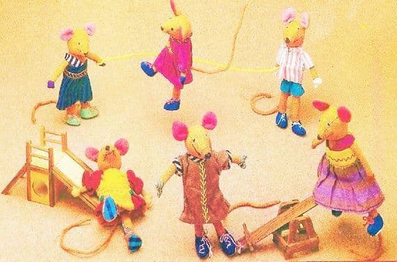 PDF DIGITAL SEWING PATTERN Mice Dolls with Clothing