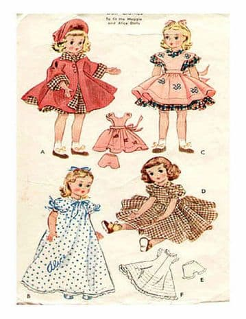 PDF Digital Sewing Pattern to make Doll's Clothes for 15 inch Dolls