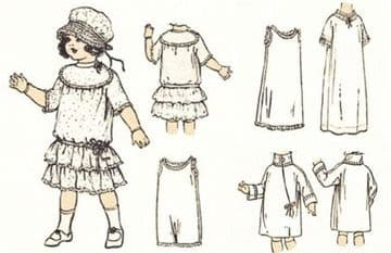 PDF Digital Sewing Pattern to make Dolls Clothes for 20'' Composition Dolls