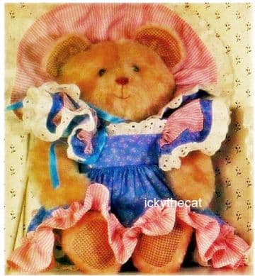 PDF Digital Vintage Chart Sewing Pattern Teddy Bear & Clothes 16'' Soft Toy Animal