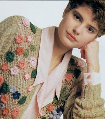 PDF Digital Vintage Crochet Pattern Ladies Cardigan Jacket with Knitting 76-102 cm 4 ply