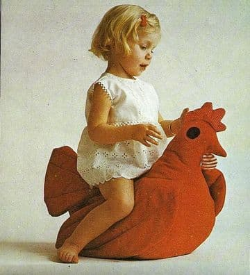 PDF Digital Vintage Sewing Pattern Children's Sit on Ride on Stuffed Soft Body Toy Duck & Duckling