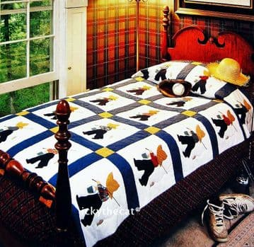PDF Digital Vintage Sewing Pattern Fisherman Fred Quilt Patchwork Applique Twin-Size