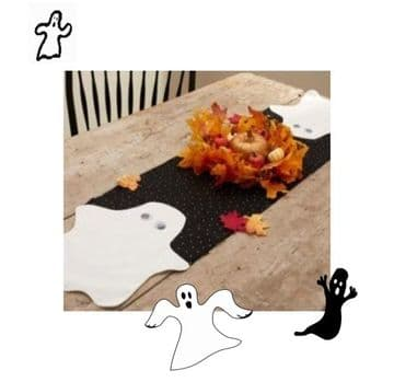 PDF Digital Vintage Sewing Pattern Full Size and Instructional Festive Halloween Ghost  Table Mat or