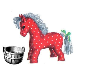 PDF Digital Vintage Sewing Pattern Stuffed Soft Body Toy Pony or Horse 10'' approx