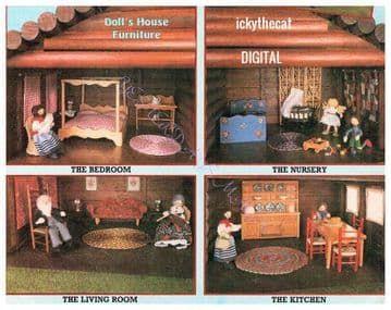 PDF Digital Woodwork and ''Sewing'' Pattern Dolls House Furniture