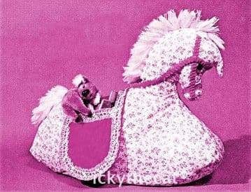 PDF Digtal Download Vintage Chart Sewing Pattern ​​​​​​​Pony/Rocking Horse  Pyjama/Pajama Case