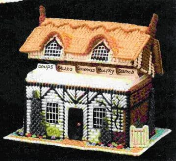 PDF plastic canvas pattern English Cottage House  Recipe or Leaflet Store