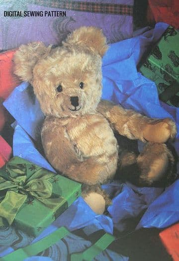 PDF Vintage Chart Sewing Pattern A 20'' Fully Jointed Teddy Bear Stuffed Plush Soft Body Toy