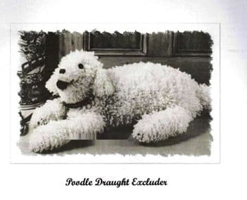 PDF Vintage Crochet Pattern A Large Aran 33'' Poodle Stuffed Plush Soft Toy or Draught Excluder