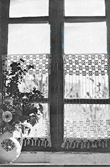 PDF Vintage Crochet Pattern to make a Lace Curtain or Blind 29 x 16''