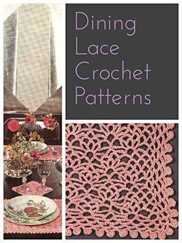 PDF Vintage Crochet Pattern to make Lace Place or Table Mats in 2 Sizes