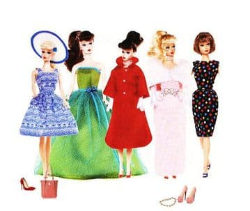 PDF Vintage Full Size Sewing Pattern Large Wardrobe of clothes for Barbie Teenage Dolls