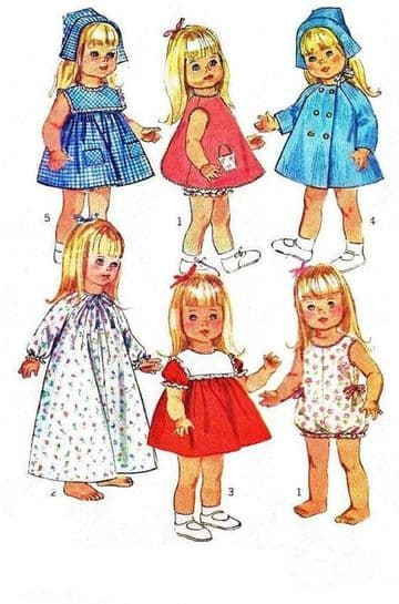 PDF Vintage Sewing Pattern 6768 A Wardrobe of Clothes for 18 Inch Dolls like Susie Sunshine