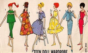 PDF Vintage Sewing Pattern Advance 3377 A Wardrobe of Clothes for Teenage Dolls Barbie