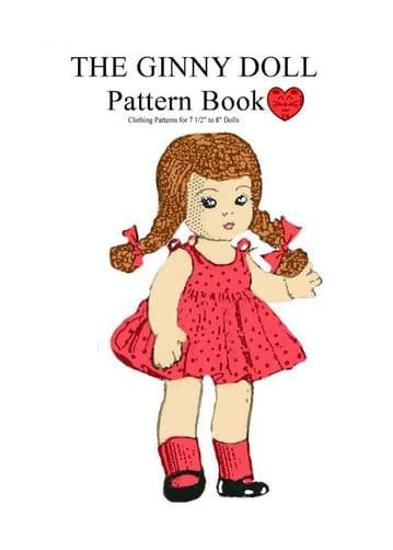 PDF Vintage Sewing Pattern Dolls Clothes for 7 1/2 to 8 inch Dolls like Ginny