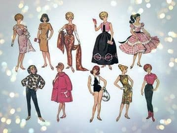 PDF Vintage Sewing Pattern McCalls 7137 A Wardrobe of Clothes for Barbie