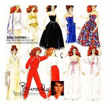 PDF Vintage Sewing Pattern McCalls 9283 A Wardrobe of Clothes for Barbie and Brooke