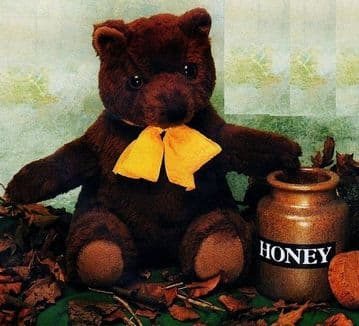 PDF Vintage Sewing Pattern to make a Traditional 13'' Brown Teddy Bear Soft Toy