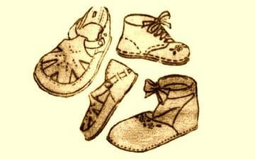 PDF Vintage Sewing Pattern to make Baby Shoes