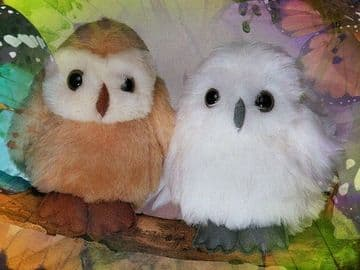 PDF Vintage Sewing Pattern to make Cute 6'' Baby Owls Soft Plush Toys