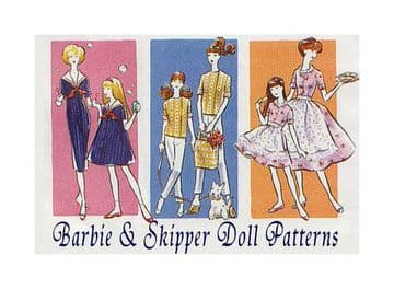 PDF Vintage Sewing Pattern to make Dolls Clothes Teenage Dolls like Barbie and Tammy