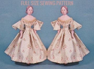 PDF Vintage Sewing Pattern Traditional 12 1/2'' Doll with Clothes