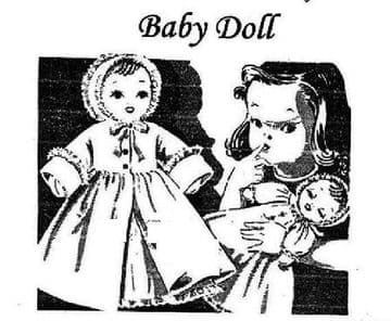 UK FreepostPRINTED Vintage Sewing Pattern Stuffed Soft Body Cloth Baby Doll with Clothes