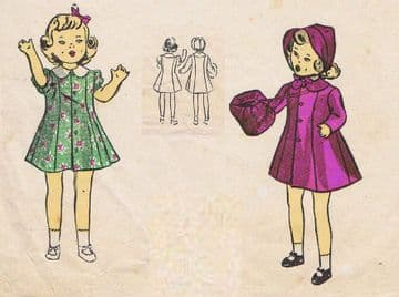 UK Freepost Vintage 40's Sewing Pattern to make Dolls Clothes for Betsy McCall & Miss Revlon