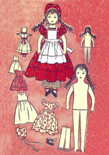 Vintage 15'' Rag Doll and Her Clothes Sewing Pattern 2375