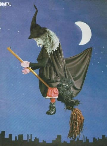 Vintage Chart Sewing Pattern  73 cm Witch Mobile (excluding hat) or Soft Body Cloth Toy Doll