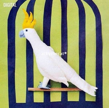 "Vintage Chart Sewing Pattern PDF to make  a 12"" Cockatoo Bird A Stuffed Plush Soft Body Toy (1)"