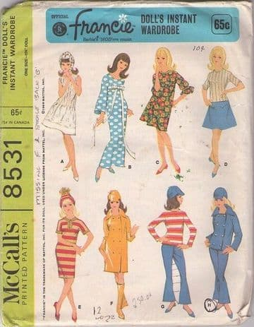 Vintage Dolls Clothes Mod Fashions for Barbie Dolls 8531