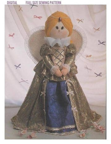 Vintage Full Size Sewing Pattern  A Soft Body Cloth Doll  with Historical Costume 22-24'' Tall