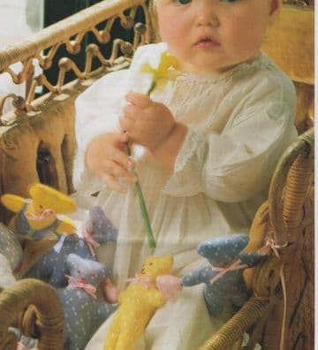 Vintage Full Size Sewing Pattern  Easy Stuffed Plush Soft Toy Teddy Bear Chain Cot or Crib