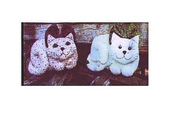 Vintage PDF Download Two Kittens Cats Sewing Pattern